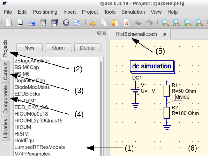 Getting Started with Qucs Analogue Circuit Simulation — Qucs Help