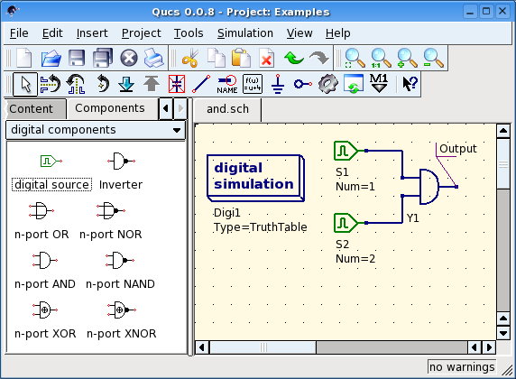 Getting Started with Digital Simulations — Qucs Help 0 0 19