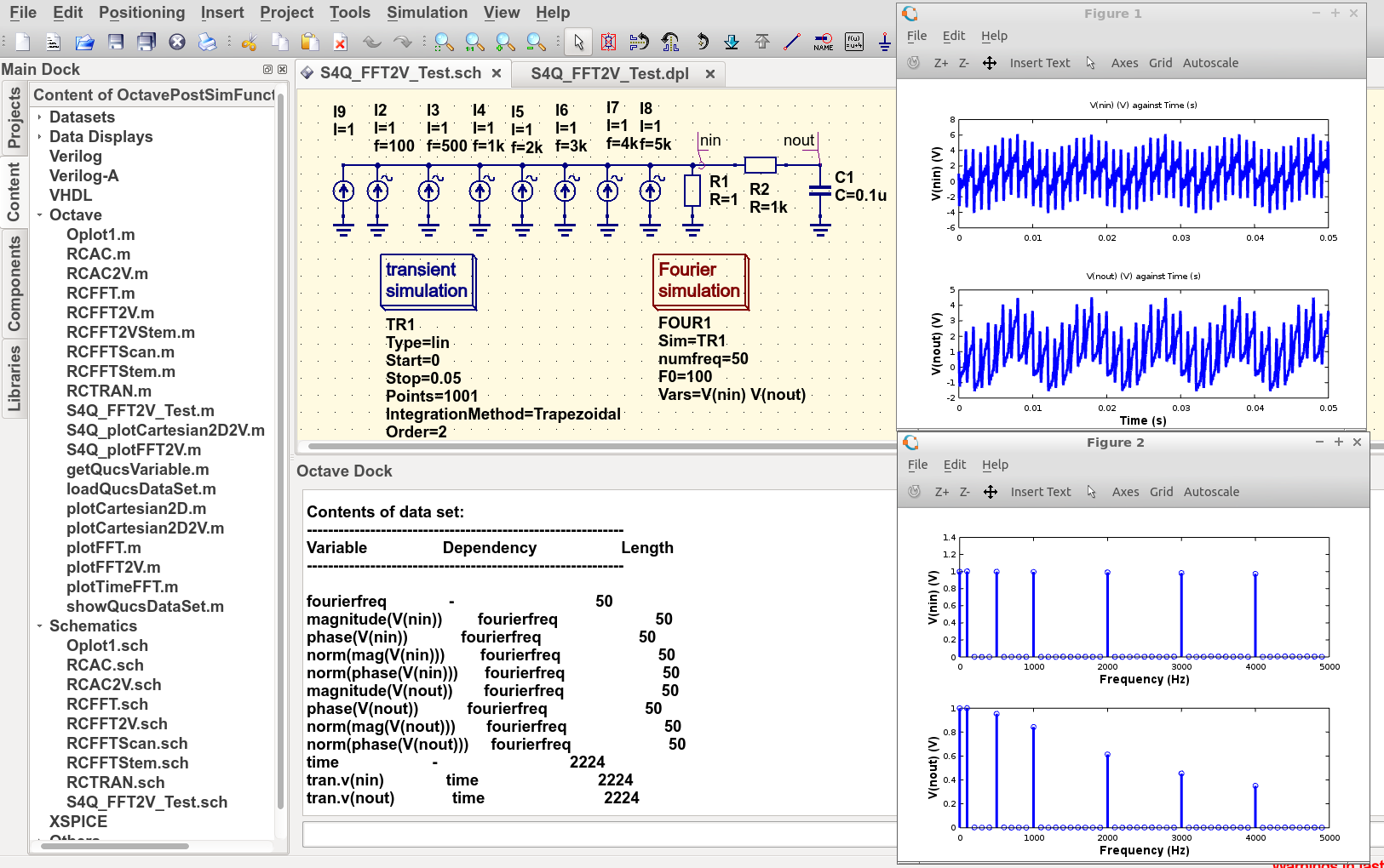 Chapter 6  Ngspice, Xyce and SPICE OPUS post-simulation data