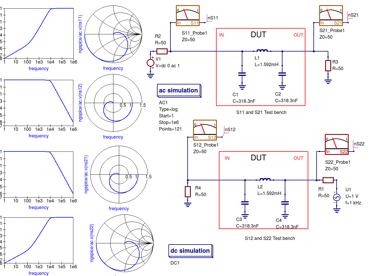 Chapter 13 Rf Simulation With Ngspice Xyce And Spice Opus Qucs S Use Circuit Builder Software To Construct Both Circuits In Figure Small Signal S2 En